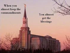"""""""The Savior's standard is clear and simple: 'If ye love me, keep my commandments' (John 14:15). Selective obedience brings selective blessings, and choosing something bad over something worse is still choosing wrong. Faithful observance of some commandments doesn't justify neglecting others."""" From #ElderKlebingat's inspiring #LDSconf http://facebook.com/223271487682878 message http://lds.org/general-conference/2014/10/approaching-the-throne-of-god-with-confidence #obedience #blessings"""