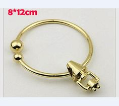 Top Light Gold Diy Leather Fabric Handbag O Round Ring Handle With Chicago Hardware Supplier Whole