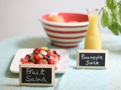 DIY Chalkboard Buffet Labels. Love this idea! And a great item to keep around the house and re-use!