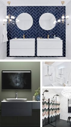 Tutustu tämän hetken upeimpiin kylpyhuonetrendeihin. Pusheen, Hana, Bathroom Lighting, Colours, Mirror, Furniture, Home Decor, Bathroom Light Fittings, Bathroom Vanity Lighting
