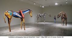 Installation photography, Deborah Butterfield / 9 April - 9 May 2009 / at L.A. Louver, Venice, CA