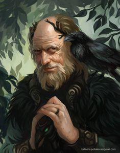 """I know why you have come"", the volhv grinned, ""are you ready to sacrifice what is dear to you for your request?"" ""Even the good deeds?"" ""Especially the good deeds."" Vedagor, old shaman, one Fantasy Male, Fantasy Rpg, Medieval Fantasy, Fantasy Portraits, Character Portraits, Character Art, Dnd Characters, Fantasy Characters, Flora Und Fauna"