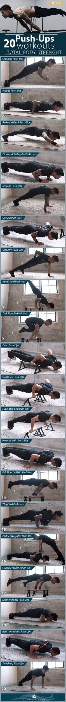20 PUSH-UP VARIATIONS FOR MAKE TOTAL BODY STRENGTH. #fitness #fitnessmotivation #fitnessmodel #healthy #workout #workoutmotivation #exercisefitnesss #exercise, #healthyactivity, # naturalhealth