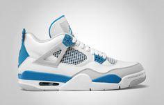 Air Jordan IV 'Military' Official Images Sneakers Nike Jordan, Jordan Shoes, Retro Sneakers, Blue Sneakers, Retro Shoes, Blue Shoes, Shoes Sneakers, Military Shoes, Baskets