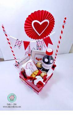 Valentine Gift Baskets, Valentine Day Crafts, Love Valentines, Food Bouquet, Balloon Gift, Party Kit, Gift Hampers, Xmas Gifts, Creative Gifts