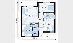 Small but beautiful house plans - Houz Buzz Beautiful House Plans, Beautiful Homes, Euro, Costa, Cosy House, Two Bedroom, Bedrooms, 1, Floor Plans
