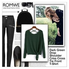"""Dark Green T-Shirt (ROMWE Contest)"" by shambala-379 ❤ liked on Polyvore featuring Chanel and MICHAEL Michael Kors"