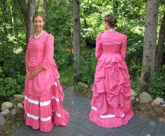 Bubblegum Pink Cotton Lawn Bustle Day Dress