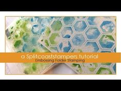 Embossing Folder Stamping - YouTube. Great technique to use your embossing folders. The last half of the video is just assembling the card. Also love that she used distress paints for this bet distress stains would work too.