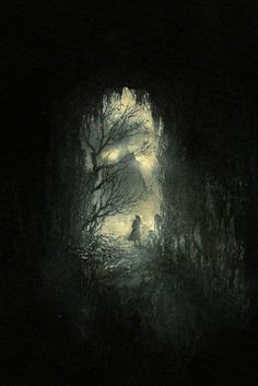 'Exit' by Yaroslav Gerzhedovich (ink on paper)