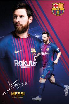 Barcelona Messi Collage 17/18 Maxi Poster #futboldibujos