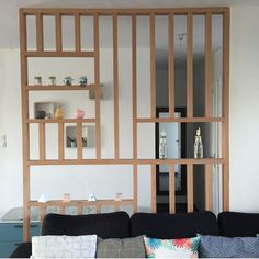 Discover recipes, home ideas, style inspiration and other ideas to try. Bedroom Storage For Small Rooms, Room Divider Walls, Room Dividers, Studio Apartment Decorating, Apartment Ideas, Small House Interior Design, Room Partition Designs, Separating Rooms, Tiny Spaces