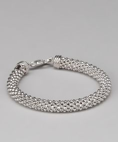 Take a look at this Silver Popcorn Bracelet by Yellow Gold, Inc. on #zulily today!