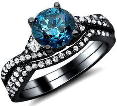 Gorgeous blue diamond ring!