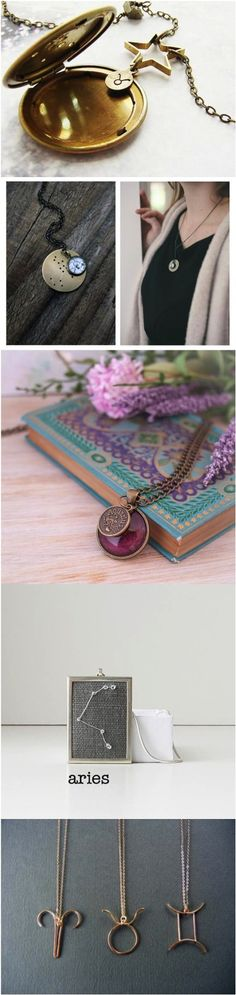 These zodiac necklaces are so beautiful! I love that you can personalize them beyond the sign, too! | Made on Hatch.co by independent maker & designers