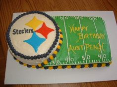 Pittsburgh Steeler Cake for our aunt.
