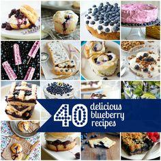 40 delicious blueberry recipes