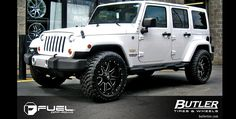 Jeep Wheels and Tires Packages | ... fuel two piece offset wheel d262 maverick tire size 33 12 5r20 wheel