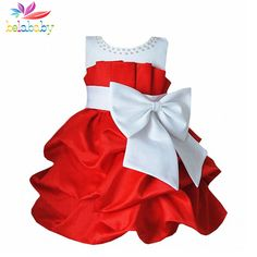 Belababy Summer Princess Girl Dress Fashion Baby Spring Children Bowknot Sleeveless TuTu Dress Kids Party Dresses For Girls