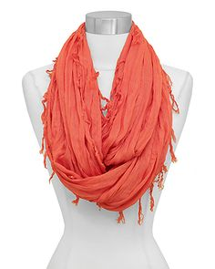 Arie Infinity Scarf in Persimmon on Emma Stine Limited