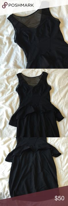 Mesh Peplum Dress Cute for date night! bebe Dresses Mini