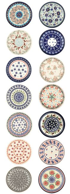 "Polish pottery ""BOLESŁAWIEC""  I love Polish Pottery but I have all I can store now. Still, I'd love some of these!"