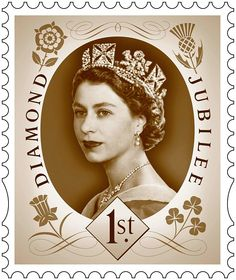 The Royal Mail has unveiled a set of six stamps to mark the 60th anniversary of the Queen's accession to the throne - her Diamond Jubilee.