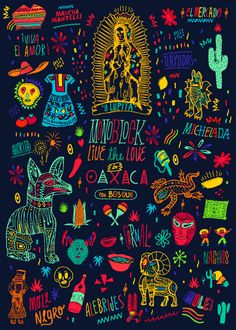 Oaxaca moleskine by Bosque , via Behance, i love every single picture and illustration