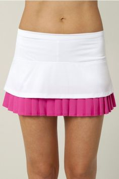 Lucky in Love Women's Tennis Apparel- Viva Brazil Collection: Colorblock  Layered Pleat Skort LIL-CB19