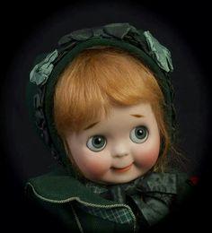Antique reproduction Googly doll by Branka Schärli.