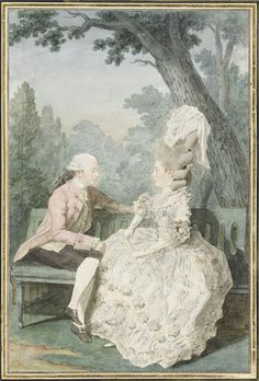 Marquis and Marquise de Montsoreau, 1780 by Louis Caroggis Carmontelle (1717-1806)