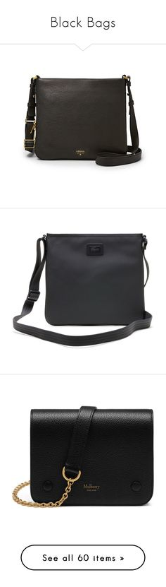"""""""Black Bags"""" by coombsie24 ❤ liked on Polyvore featuring bags, handbags, shoulder bags, bolsas, purses, bolsos, hand bags, cross-body handbag, mini shoulder bag and evening handbags"""