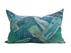 Kelly Wearstler for Lee Jofa | Kelly Wearstler Edo Linen pillow cover in Teal 14 by sparkmodern