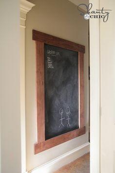DIY Framed Chalkboard - shanty girls have done it again!!! shanty-2-chic