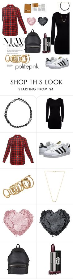 """#766 - crep check"" by politepink ❤ liked on Polyvore featuring Boohoo, Equipment, adidas Originals, Lipsy, Wanderlust + Co and Yves Saint Laurent"