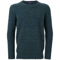 Drumohr crew neck jumper (£300) ❤ liked on Polyvore featuring men's fashion, men's clothing, men's sweaters, green, mens green sweater, mens wool sweaters, mens wool crew neck sweater, mens crew neck sweaters and mens crewneck sweaters