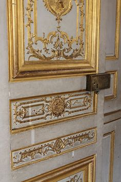 Versailles Black and Gold Set of 4 vertical by rebeccaplotnick