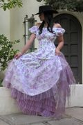 Peasant Puff & Rodeo Cinderella skirt Marrika Nakk-- it looks like another skirt is underneath the Cinderella skirt