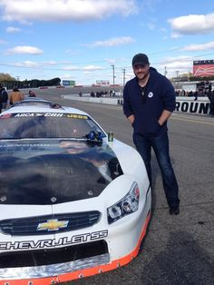Chris Young Helped sponsor the 49 car today! Get after it TJ Martins!   Embedded image permalink