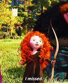 (Gif) pretty sure baby Merida is the cutest ever.
