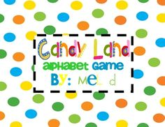 This game includes all upper and lowercase letters of the alphabet on look-alike Candy Land cards. You just need a game board