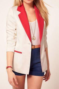 Turndown Collar Long Sleeve Suit