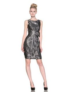 Taylor Women's Jacquard Dress With Side Bow (Shadow)