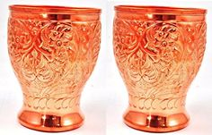 Handmade Pure Copper 2 Glass Cup for Drinking Water India Ayurveda Mug Street Art http://www.amazon.com/dp/B00PMA14EO/ref=cm_sw_r_pi_dp_CkkAub10W6W4X