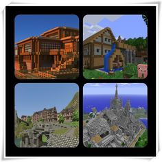 All the minecraft houses Minecraft Games, Minecraft Stuff, Minecraft Ideas, Minecraft Buildings, Minecraft Creations, Cool Inventions, Sandbox, Borderlands, Skyrim