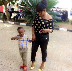 Marvelled Blog: So Adorable! Mercy Aigbe-Gentry and Her Son Step O...