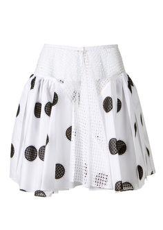 Azzedine Alaïa Skirts :: Azzedine Alaïa cotton-poplin dots pleated skirt | Montaigne Market