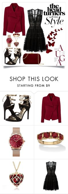 """""""Untitled #54"""" by mad-redhead ❤ liked on Polyvore featuring Stuart Weitzman, Greylin, Thomas Sabo, Palm Beach Jewelry, Elie Saab and Natasha Accessories"""