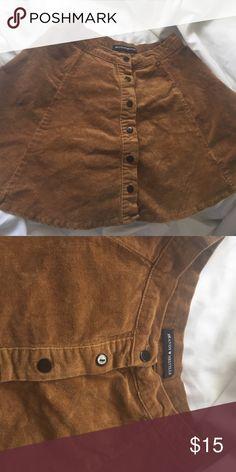 Brandy Melville Button Skirt worn once. Good condition. Brandy Melville Skirts Circle & Skater