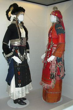 Folk Costumes, Benaki Museum (Athens) by David. Greek Traditional Dress, Traditional Fashion, Traditional Outfits, Kai, Dance Costumes, Greek Costumes, Benaki Museum, Costumes Around The World, Ethnic Dress
